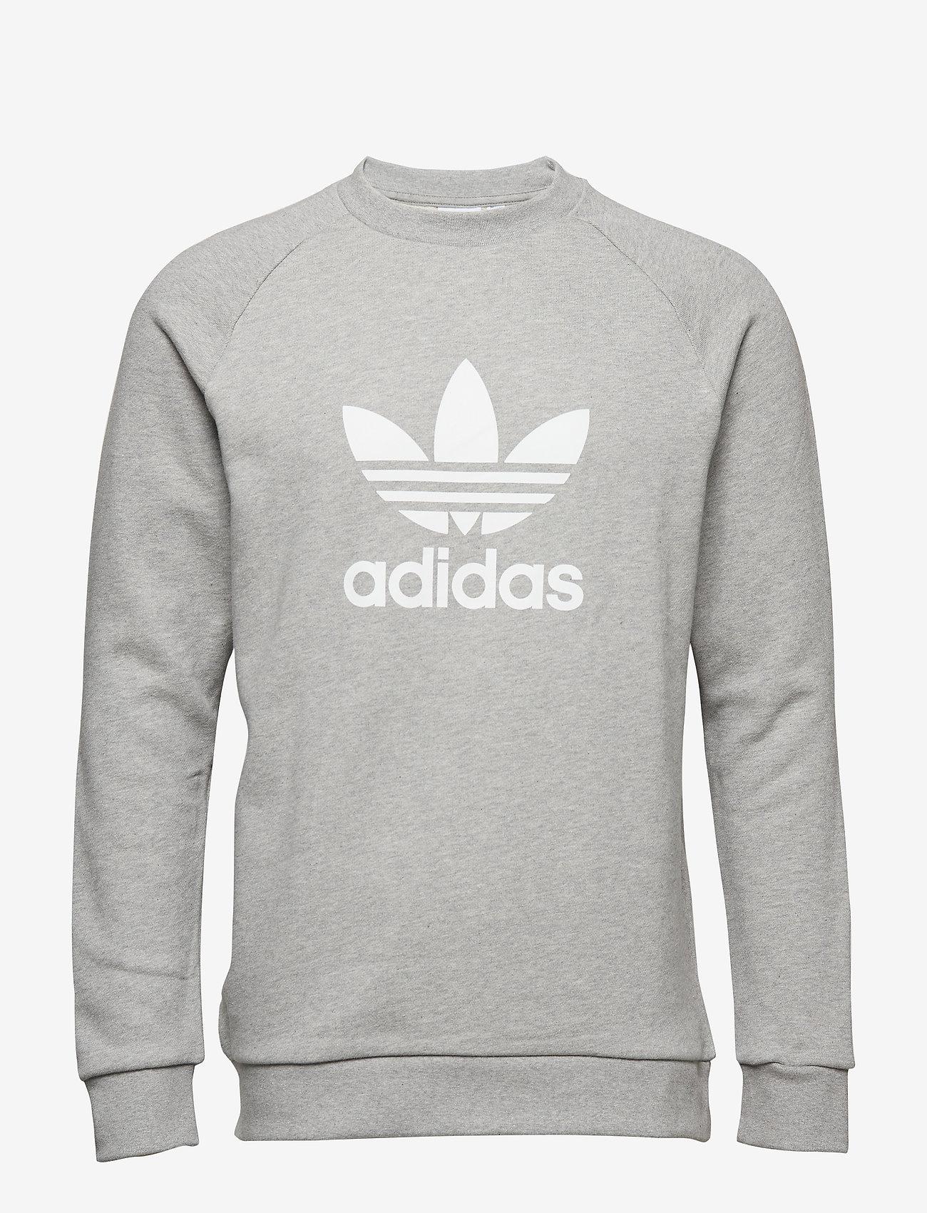adidas Originals - Trefoil Warm-Up Crew Sweatshirt - overdeler - mgreyh - 0