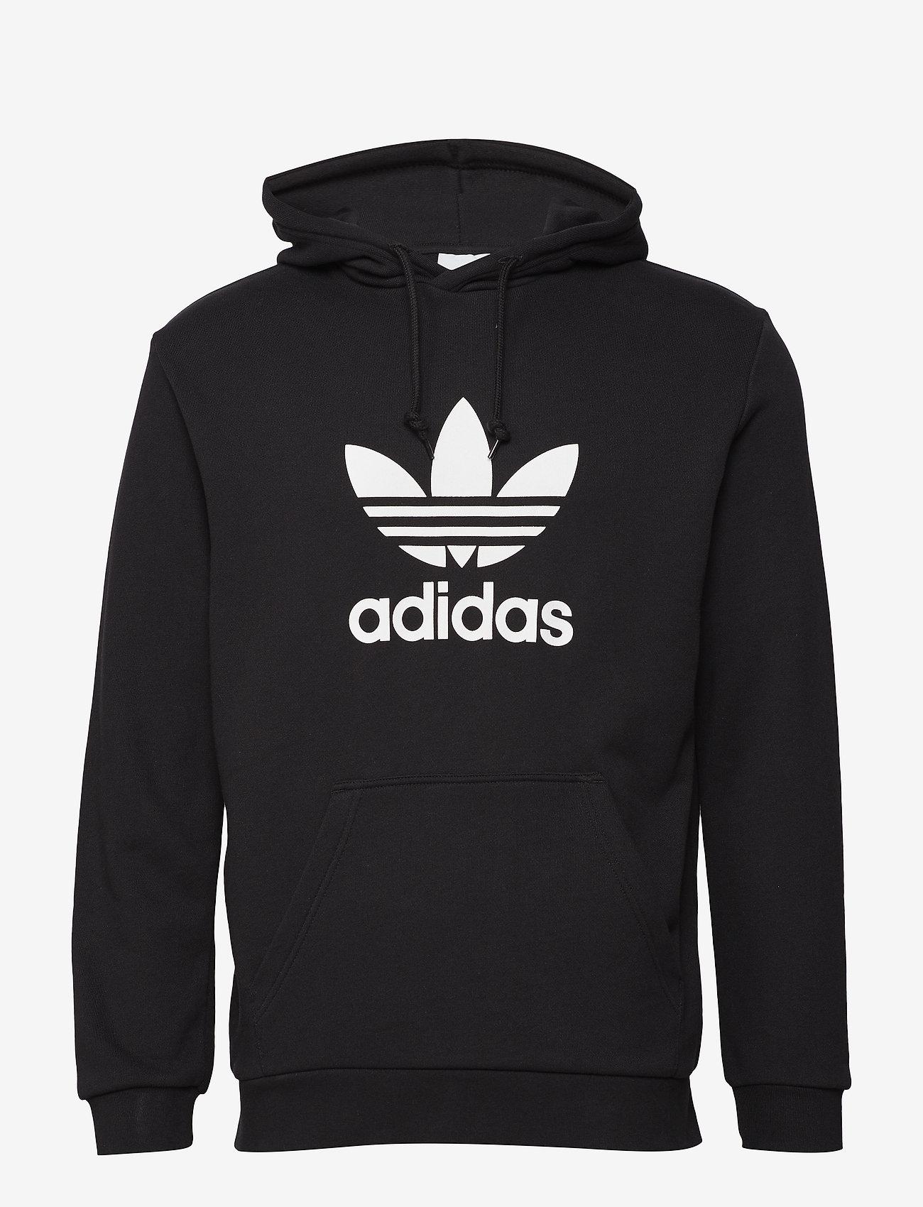 adidas Originals - TREFOIL HOODIE - pulls a capuche - black - 1