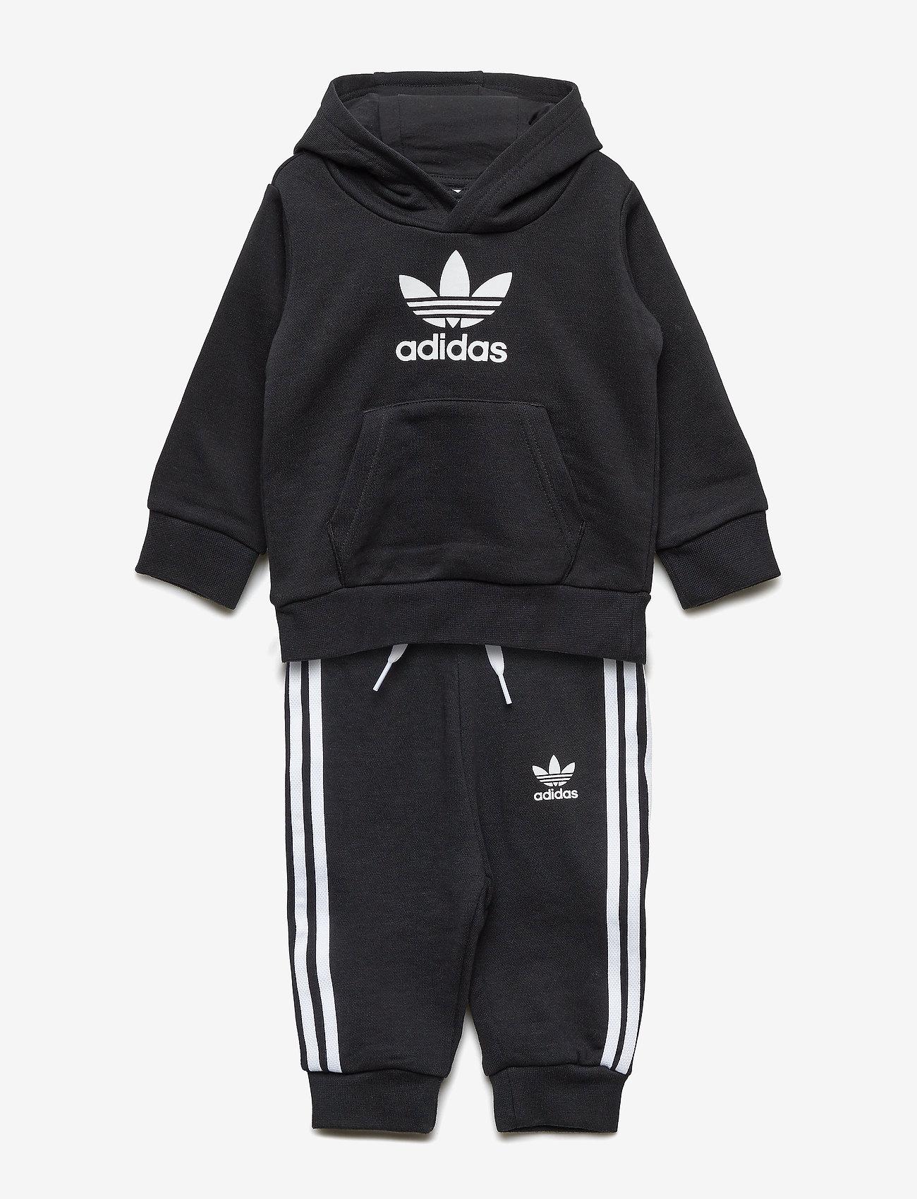 adidas Originals - TREFOIL HOODIE - trainingsanzug - black/white - 0