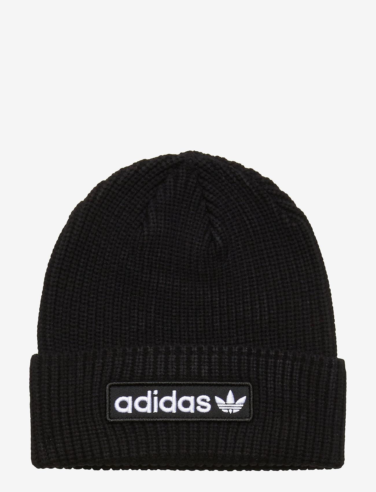 adidas Originals - W RIB BEANIE - huer - black/white