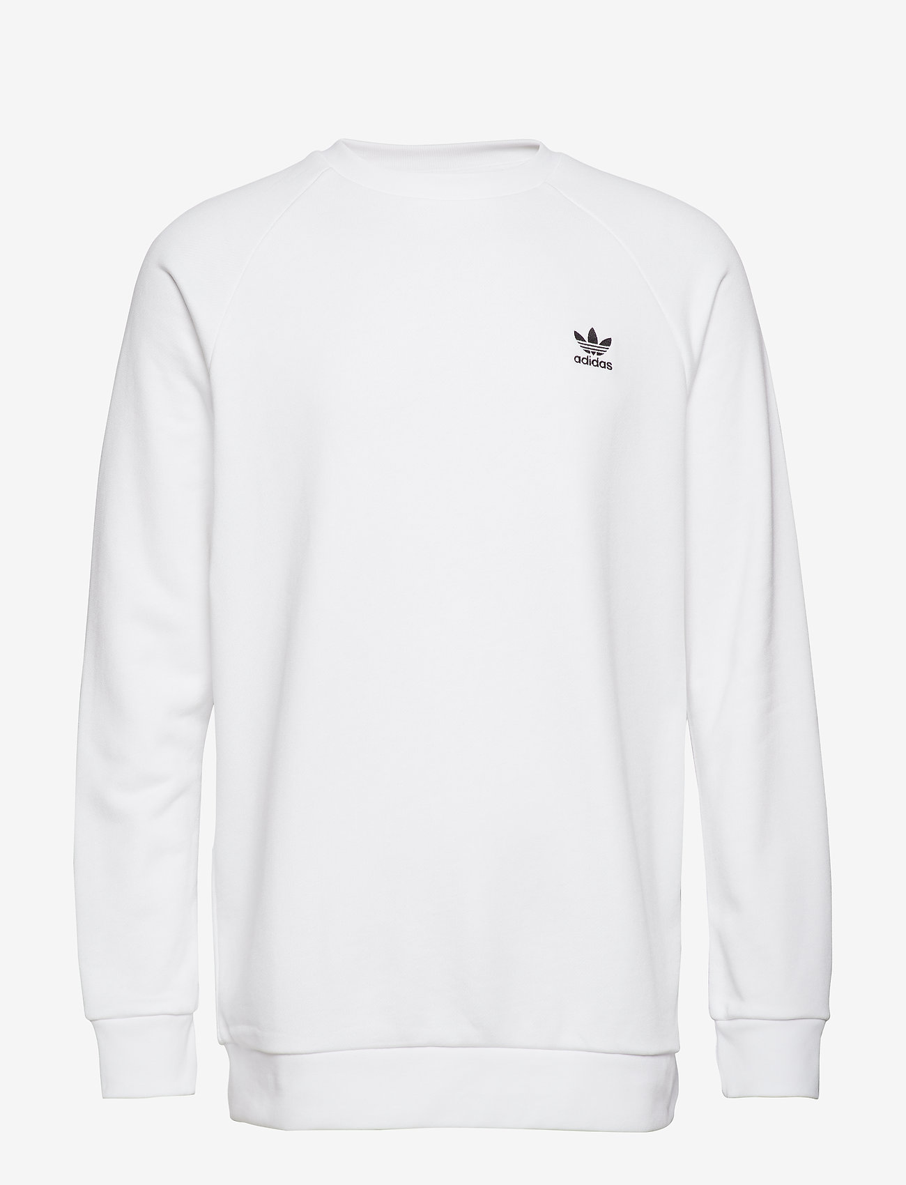 adidas Originals - Trefoil Essentials Crewneck Sweatshirt - overdeler - white/black - 1