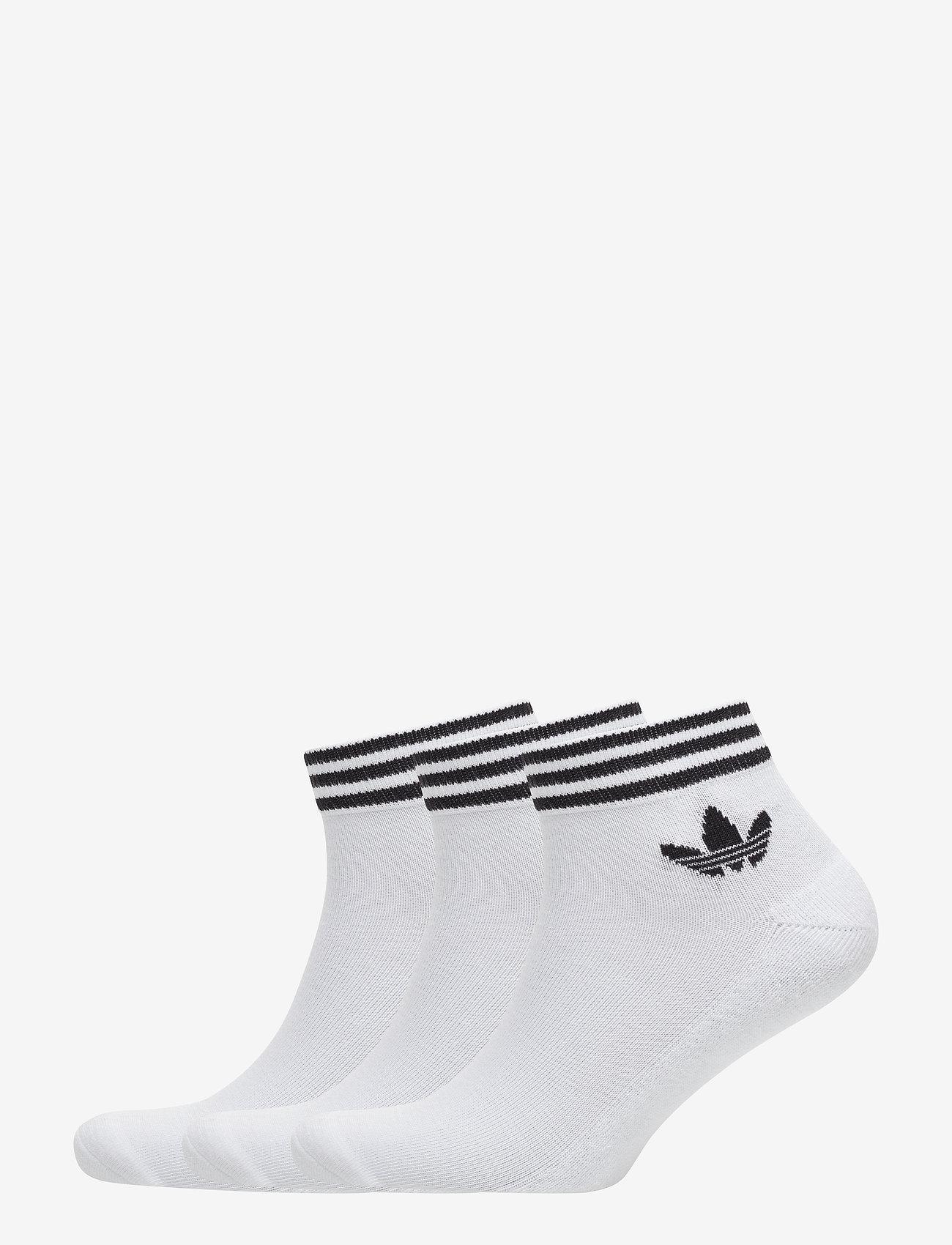 adidas Originals - Trefoil Ankle Socks 3 Pairs - nilkkasukat - white/black - 0