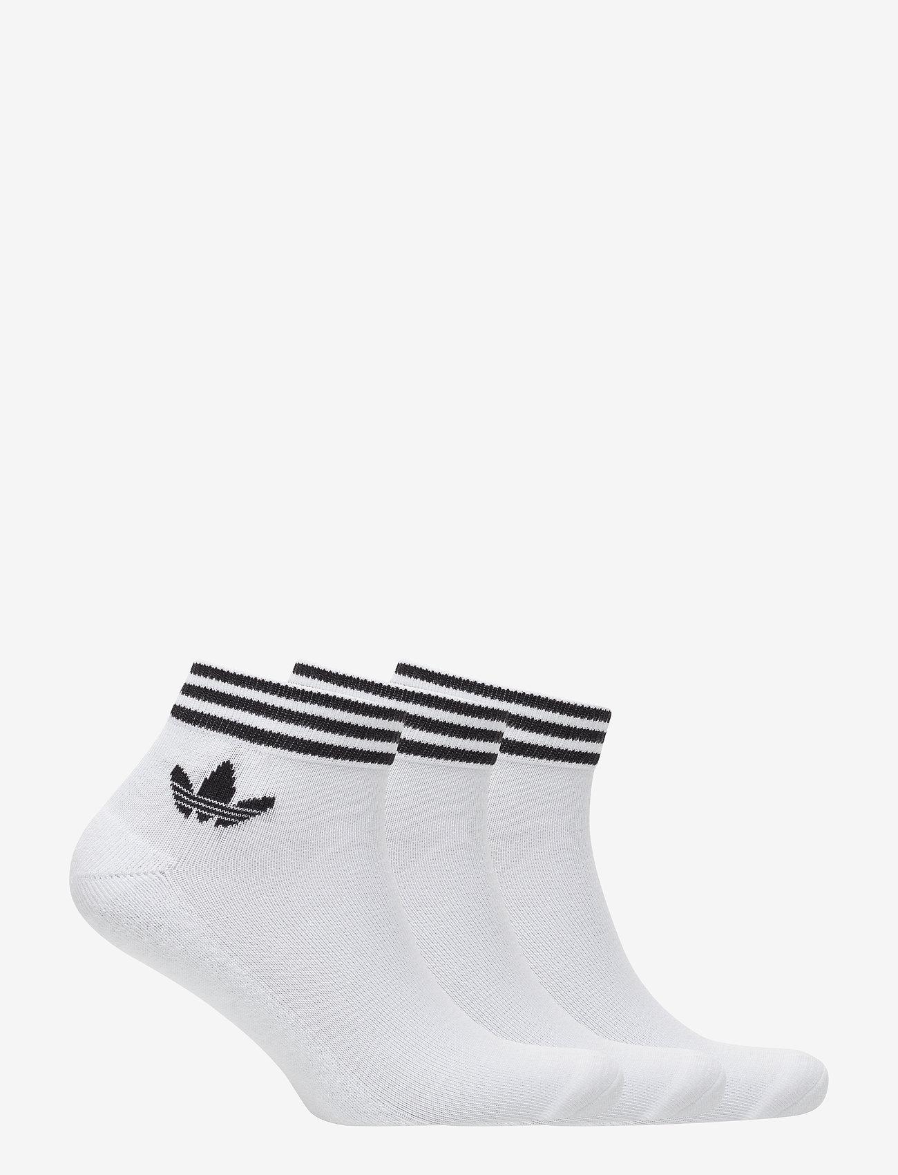 adidas Originals - Trefoil Ankle Socks 3 Pairs - nilkkasukat - white/black - 1