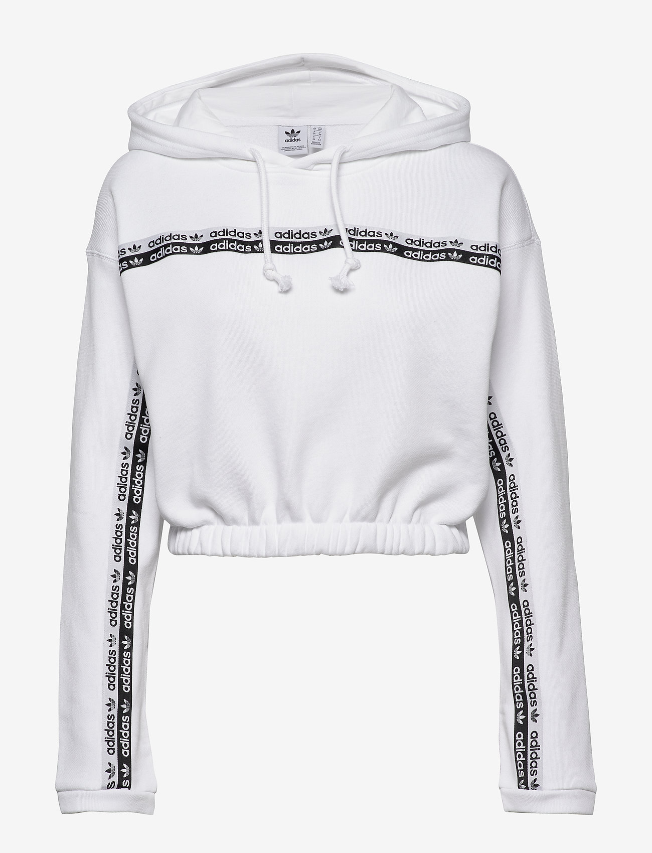 adidas Originals - CROPPED HOODIE - crop tops - white - 0