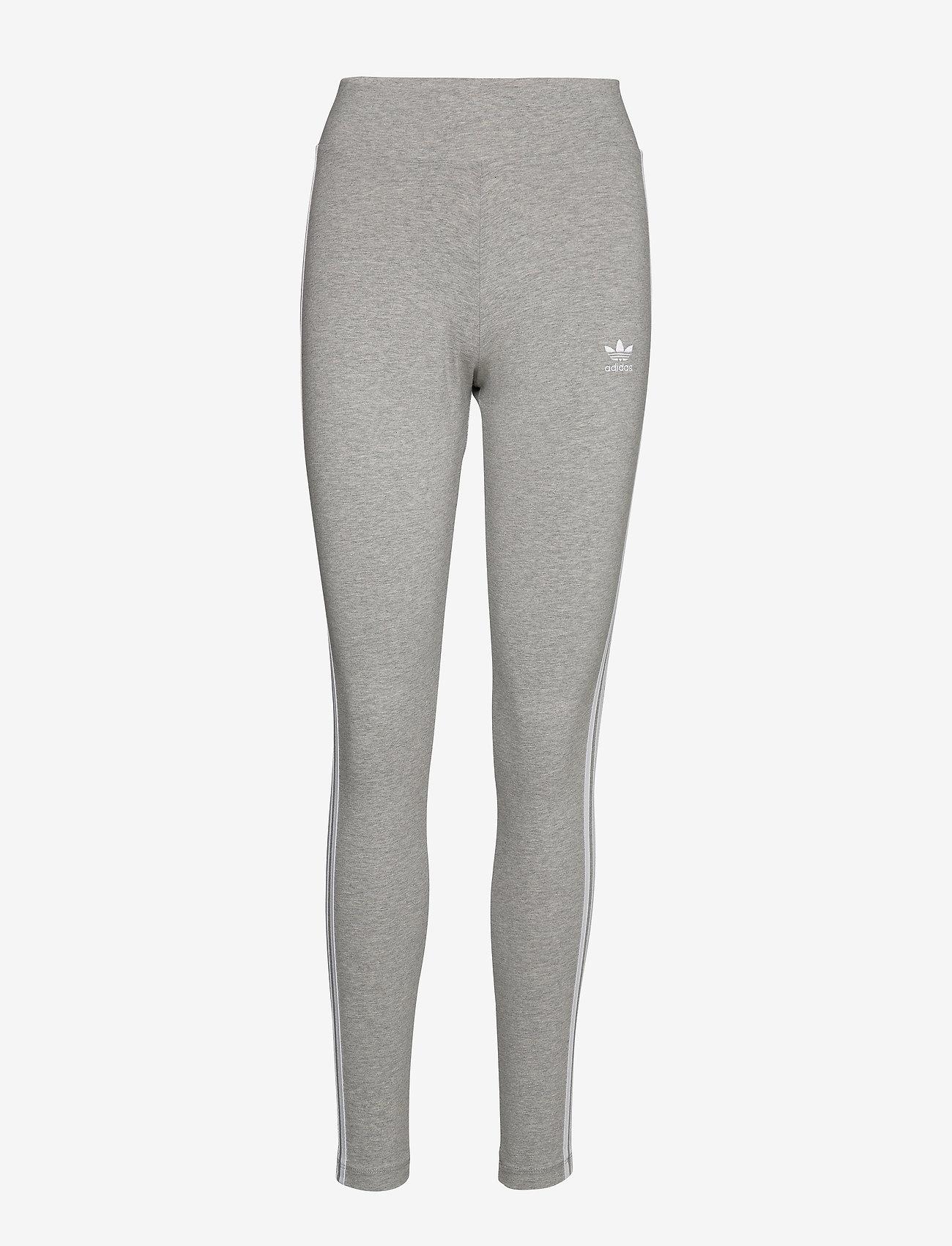 adidas Originals - 3 STRIPES TIGHT - running & training tights - mgreyh/white - 1