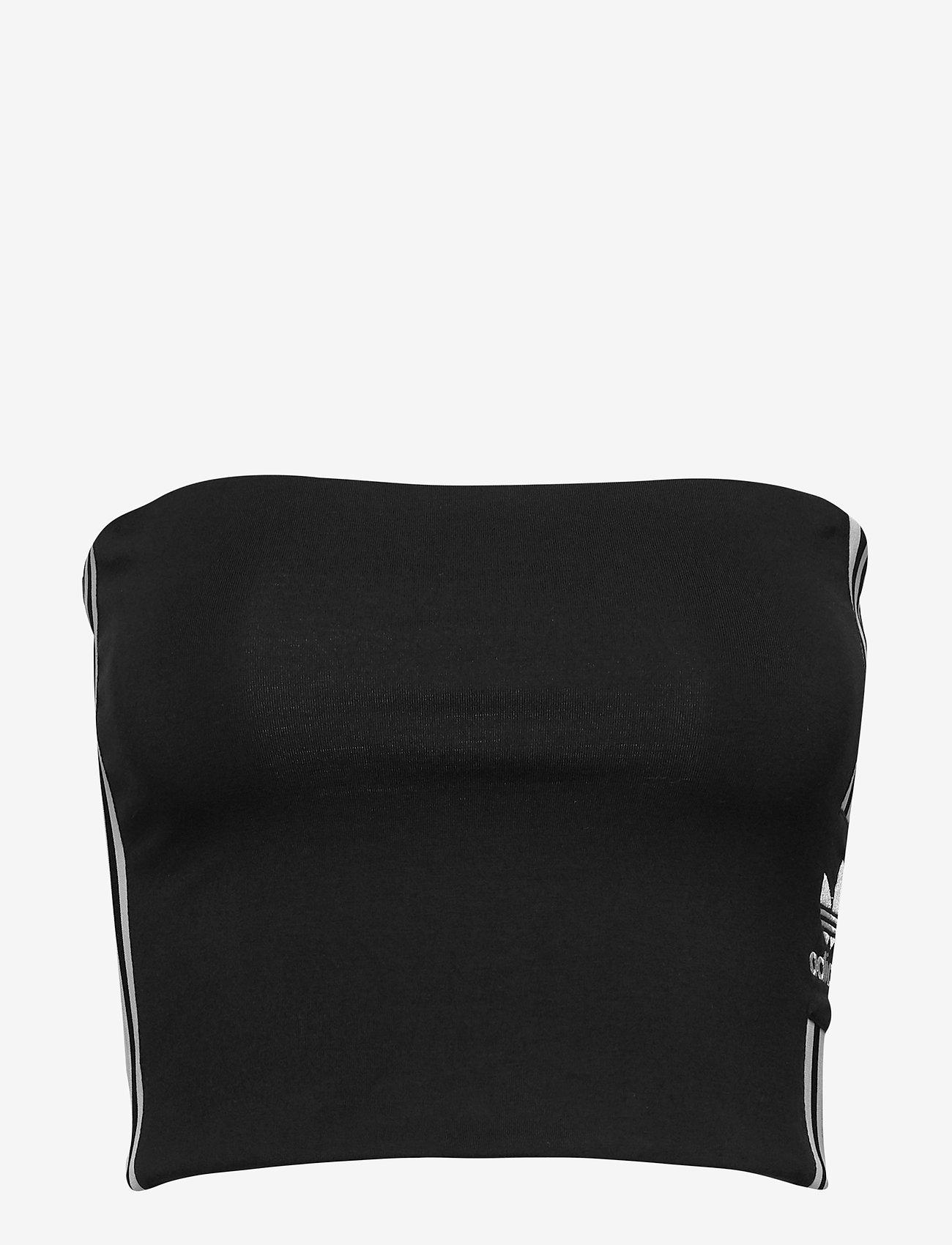 adidas Originals - TUBE TOP - crop-tops - black/white - 1