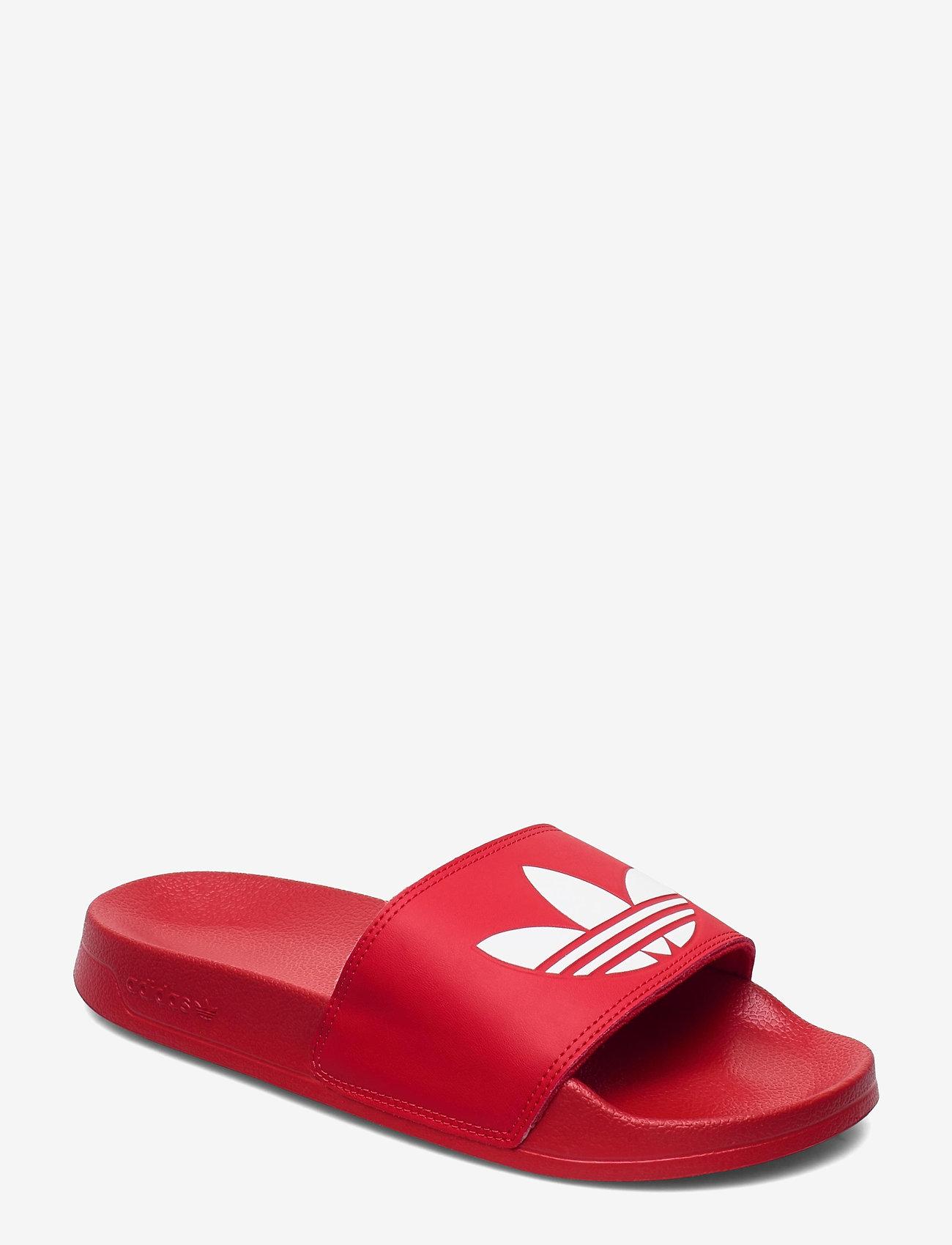 adidas Originals - Adilette Lite Slides - tennarit - scarle/ftwwht/scarle - 0