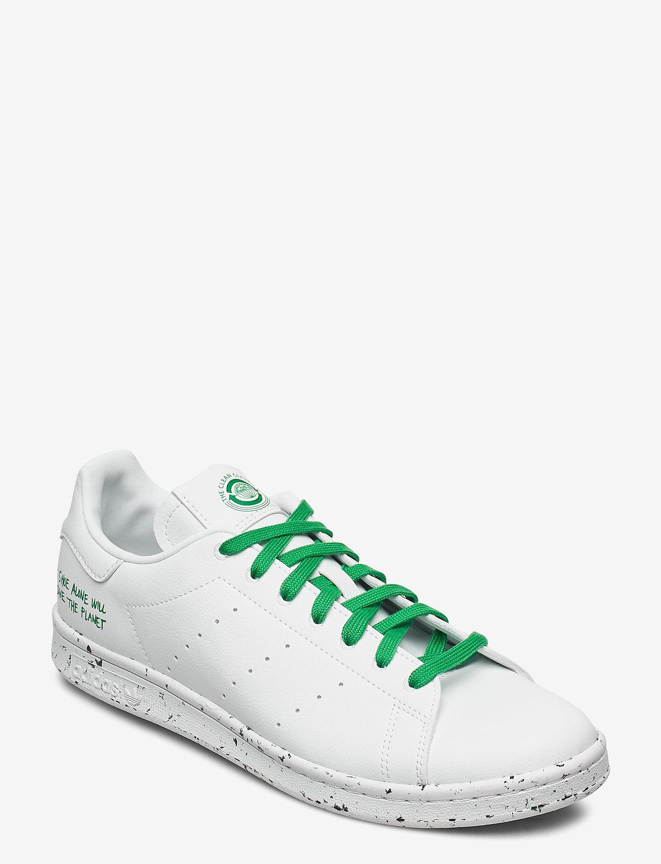 adidas Originals - STAN SMITH - lav ankel - ftwwht/ftwwht/green - 0