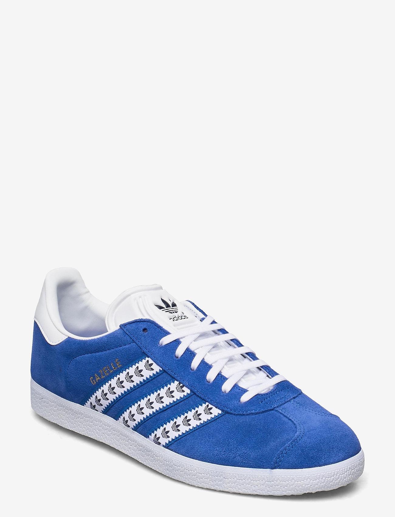 adidas Originals - GAZELLE - lav ankel - blue/ftwwht/goldmt - 0