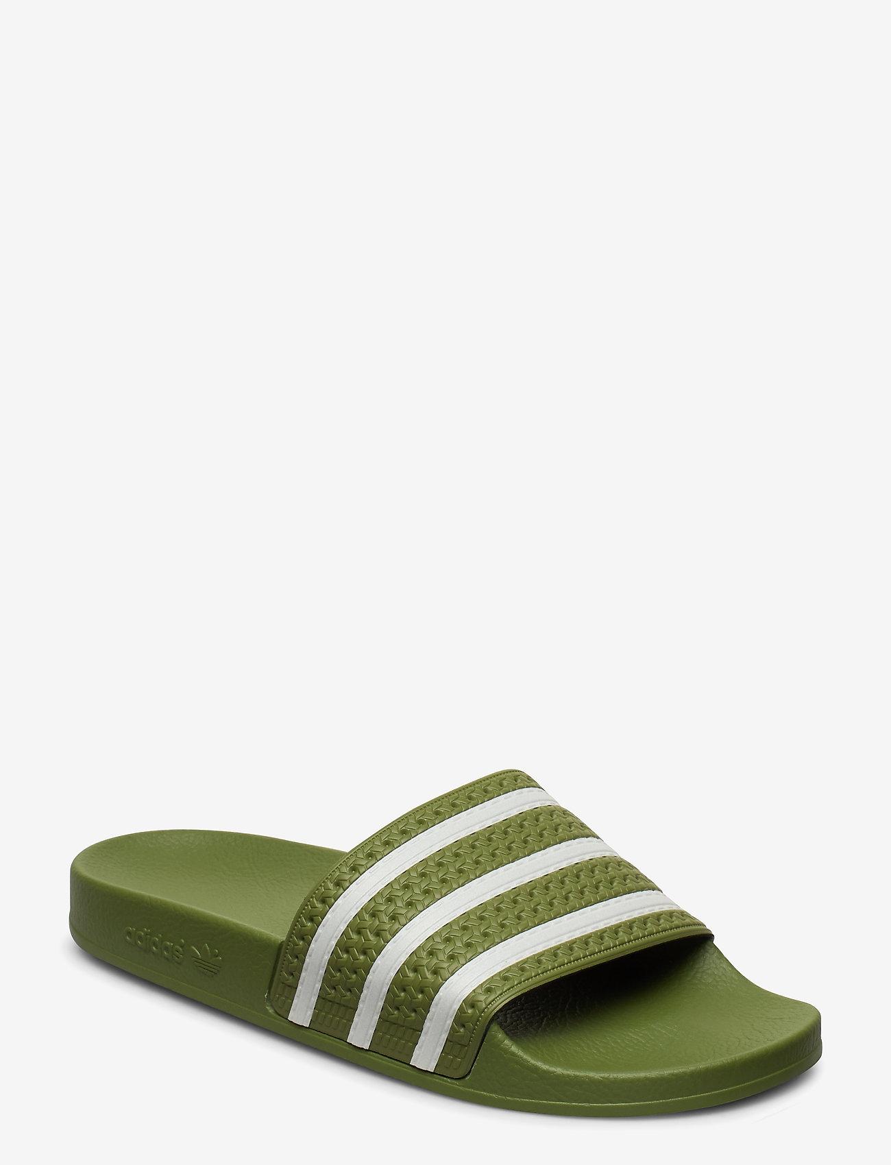 adidas Originals - ADILETTE - tennarit - forgrn/supcol/forgrn - 0