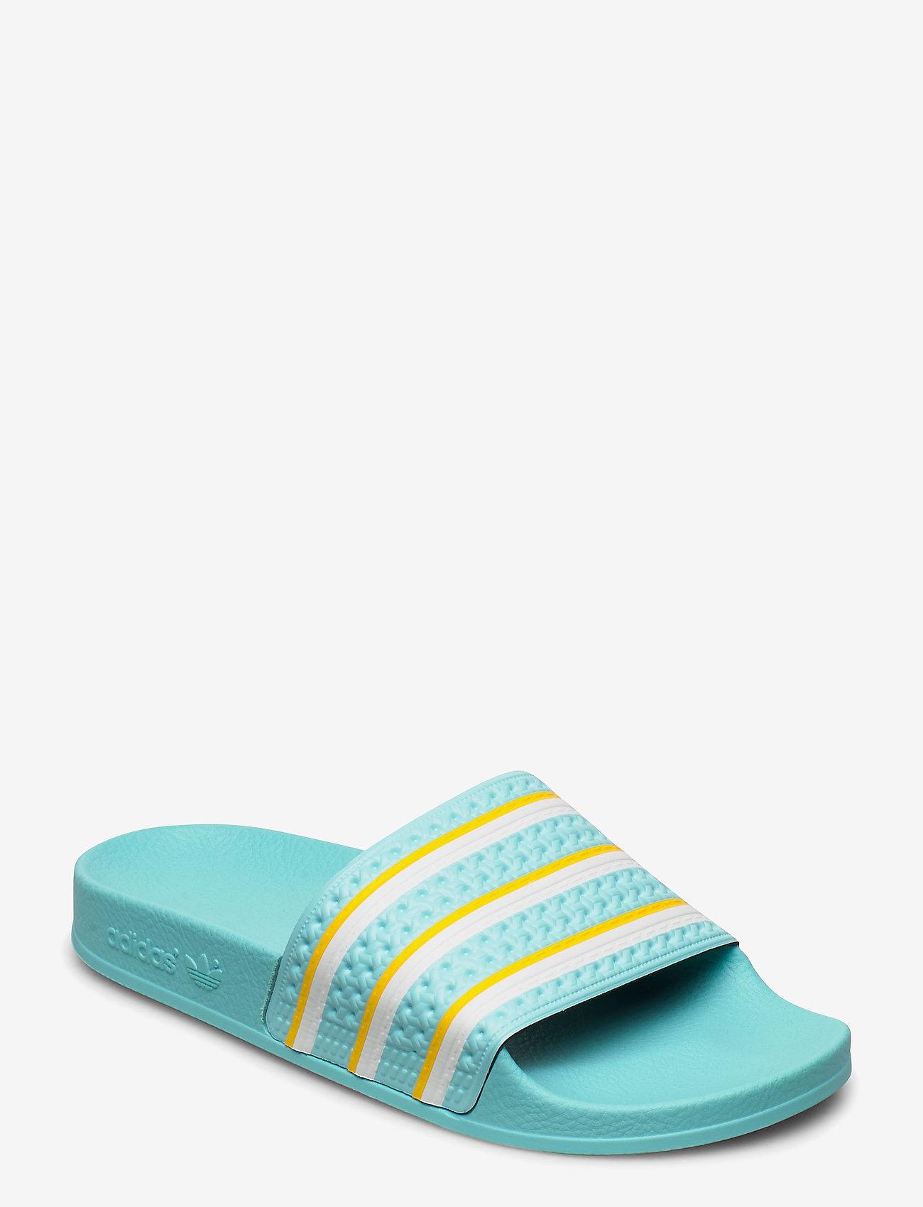 adidas Originals - ADILETTE - sneakers - bluzes/ftwwht/wonglo - 0