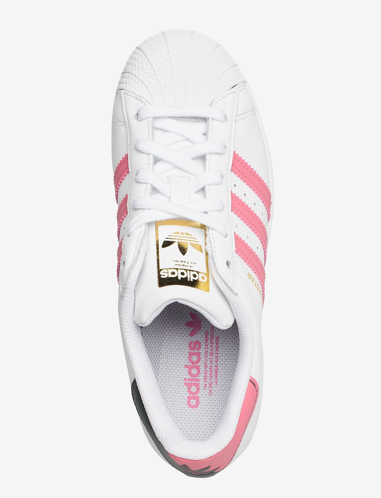 adidas Originals - Superstar W - low top sneakers - ftwwht/bluoxi/goldmt - 3