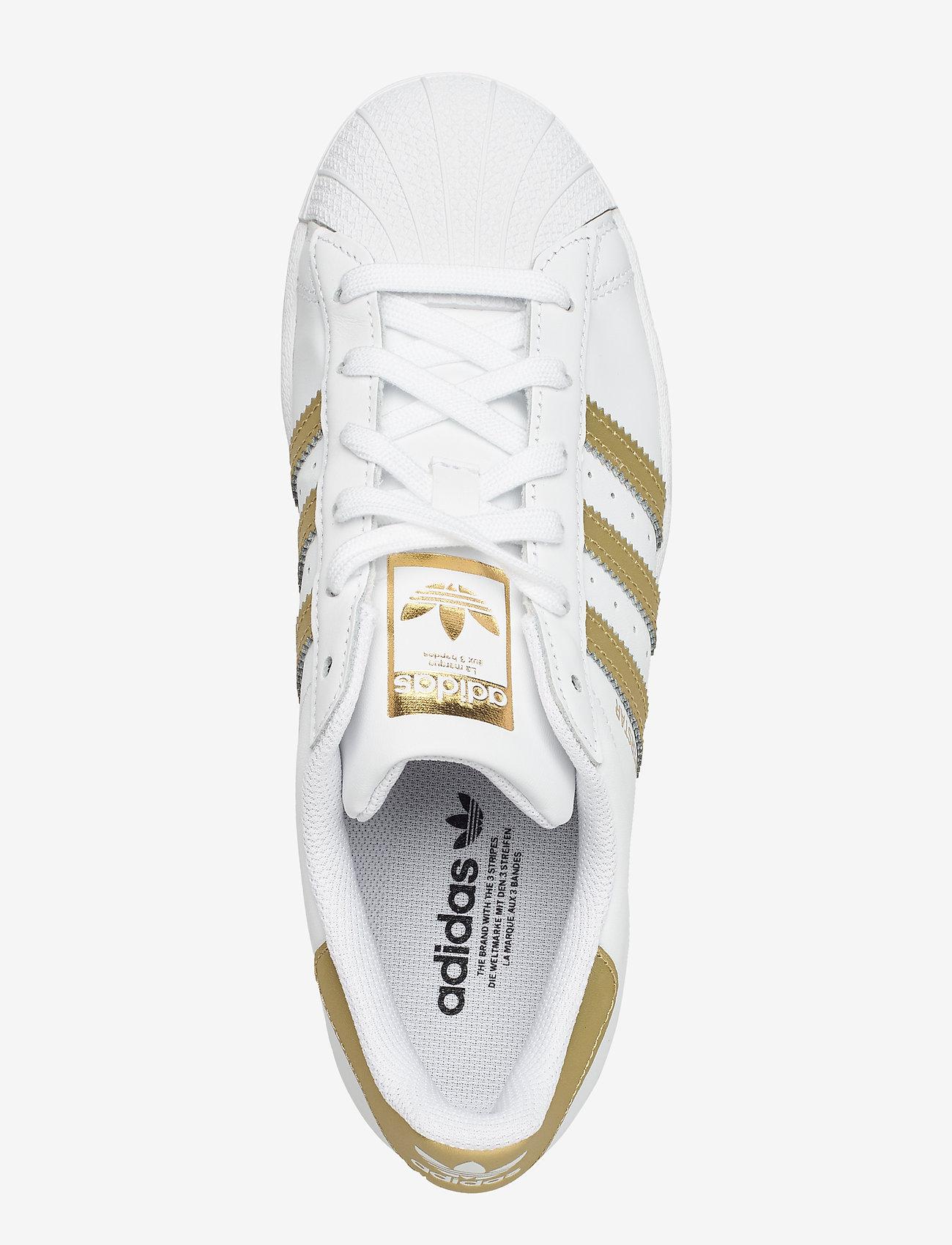 adidas Originals - Superstar  W - låga sneakers - ftwwht/goldmt/ftwwht - 3