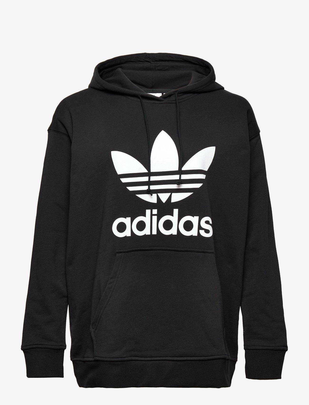 adidas Originals - TRF HOODIE - hupparit - black/white - 1