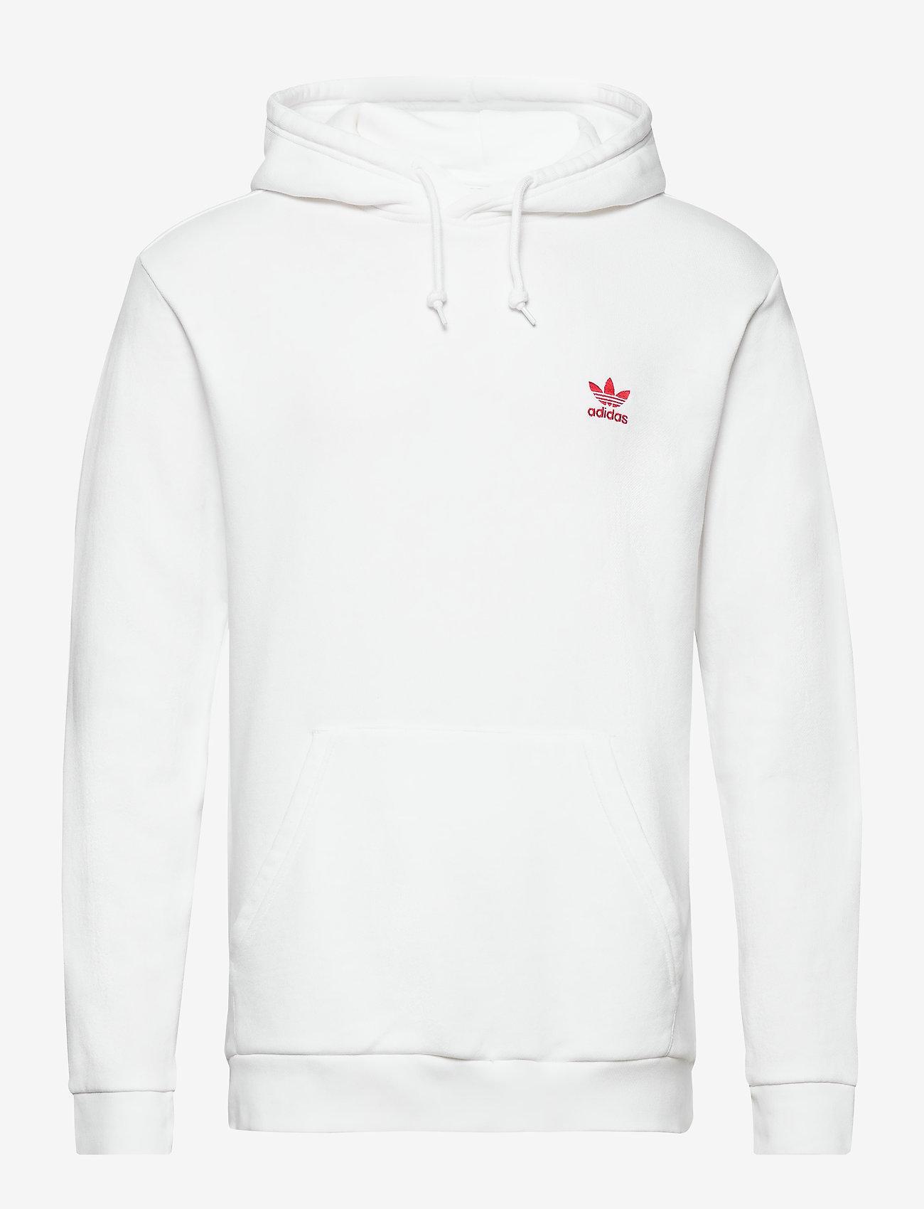 Essential Hoody (White/scarle) - adidas Originals EmR1qq