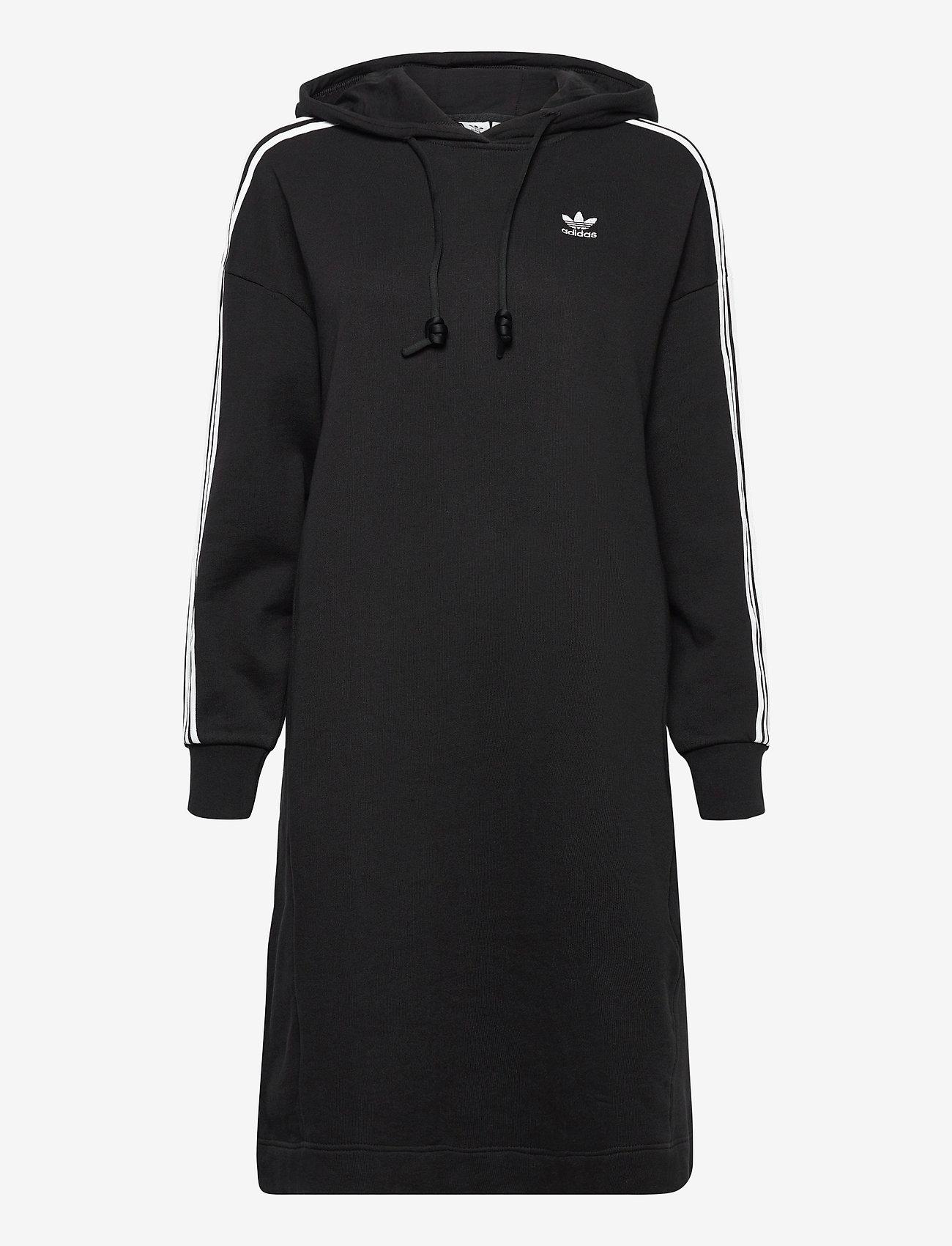 adidas Originals - Adicolor Classics Hoodie Dress W - alledaagse jurken - black - 1