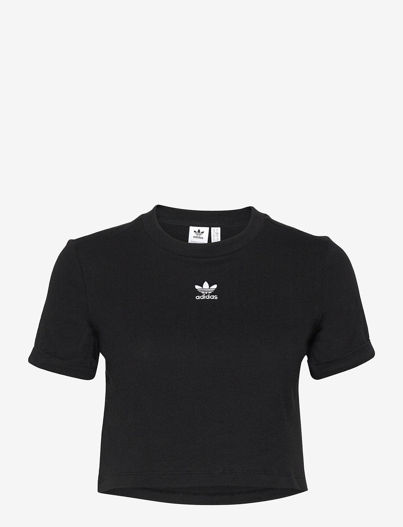 adidas Originals - Adicolor Classics Roll-Up Sleeve Crop Top W - crop tops - black - 1