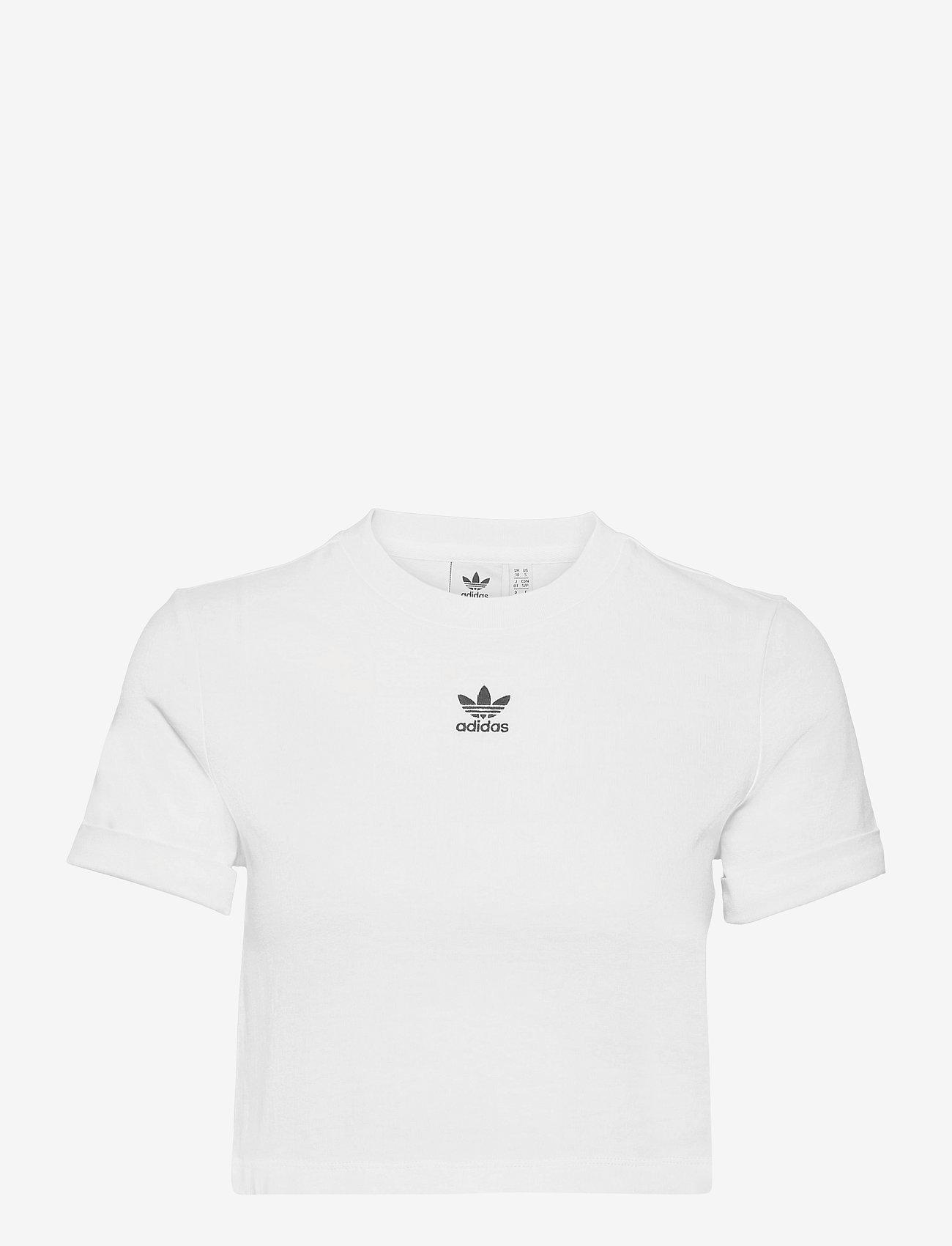 adidas Originals - Adicolor Classics Roll-Up Sleeve Crop Top W - crop tops - white - 1