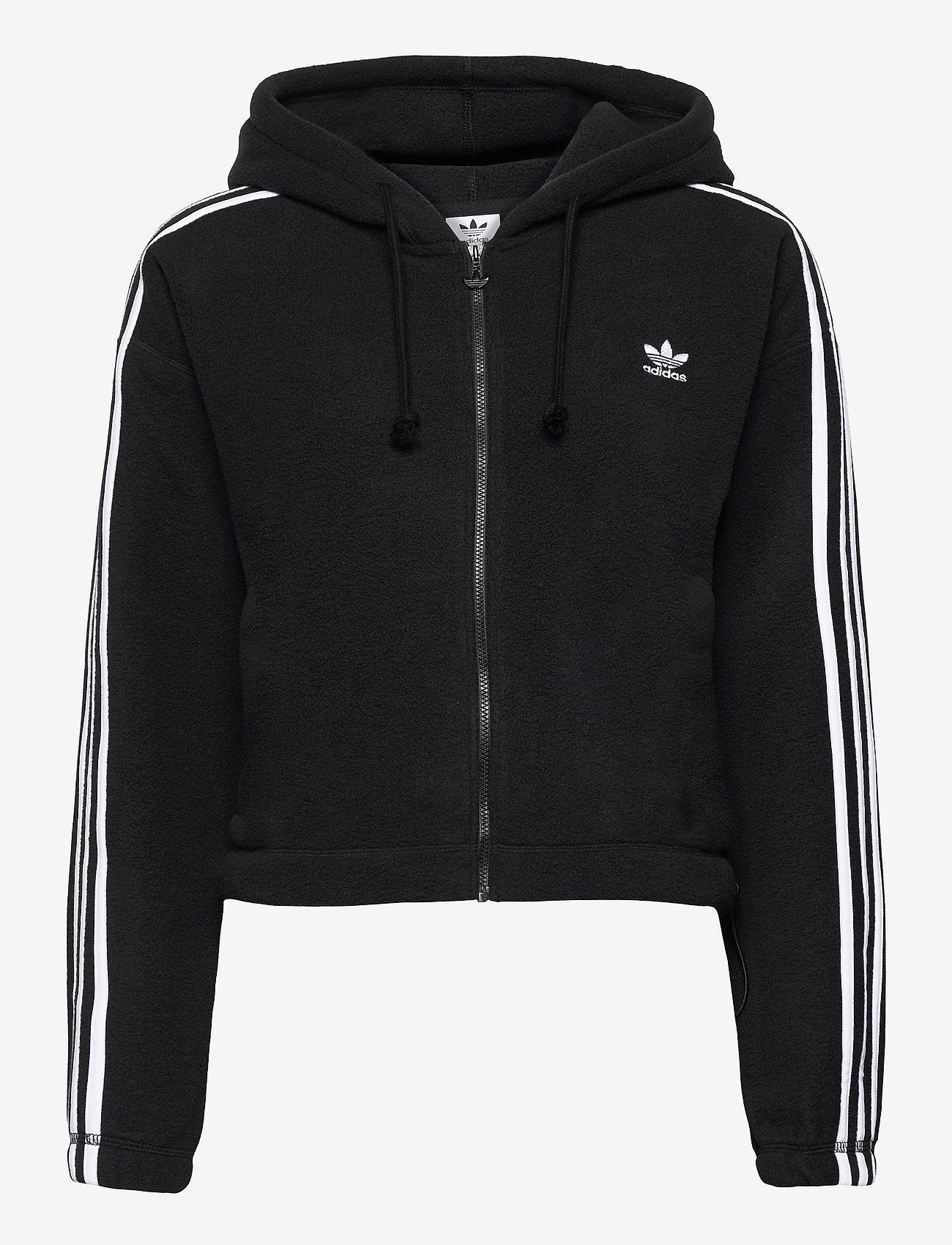 adidas Originals - Adicolor Classics Polar Fleece Full-Zip Hoodie W - fleece - black - 1