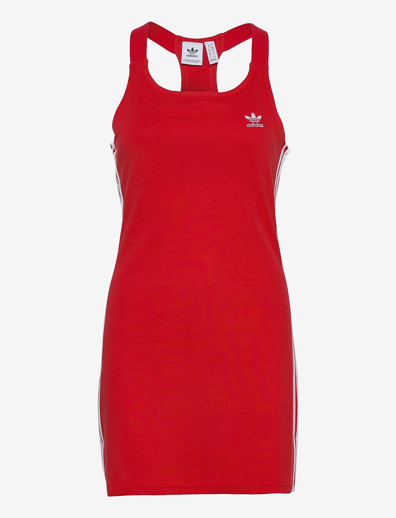 adidas Originals - Adicolor Classics Racerback Dress W - bodycon jurken - scarle - 1