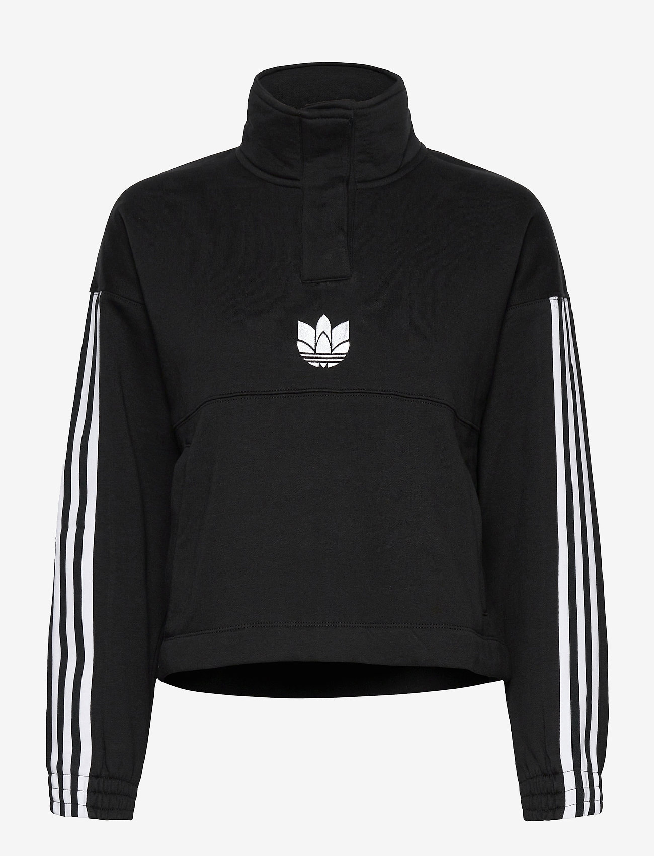 adidas Originals - Adicolor 3D Trefoil Fleece Half-Zip Sweatshirt W - sweatshirts - black - 1
