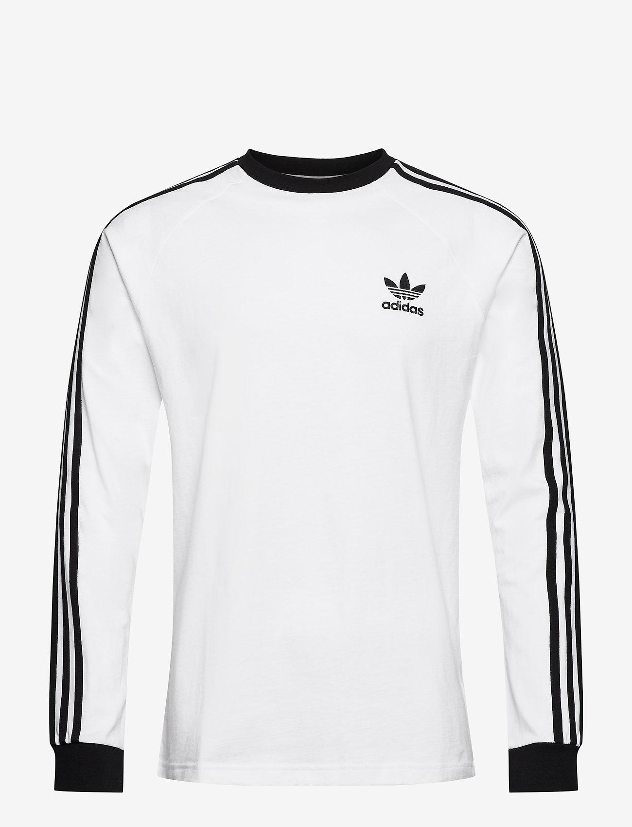 adidas Originals - Adicolor Classics 3-Stripes Long Sleeve T-Shirt - langermede topper - white - 1