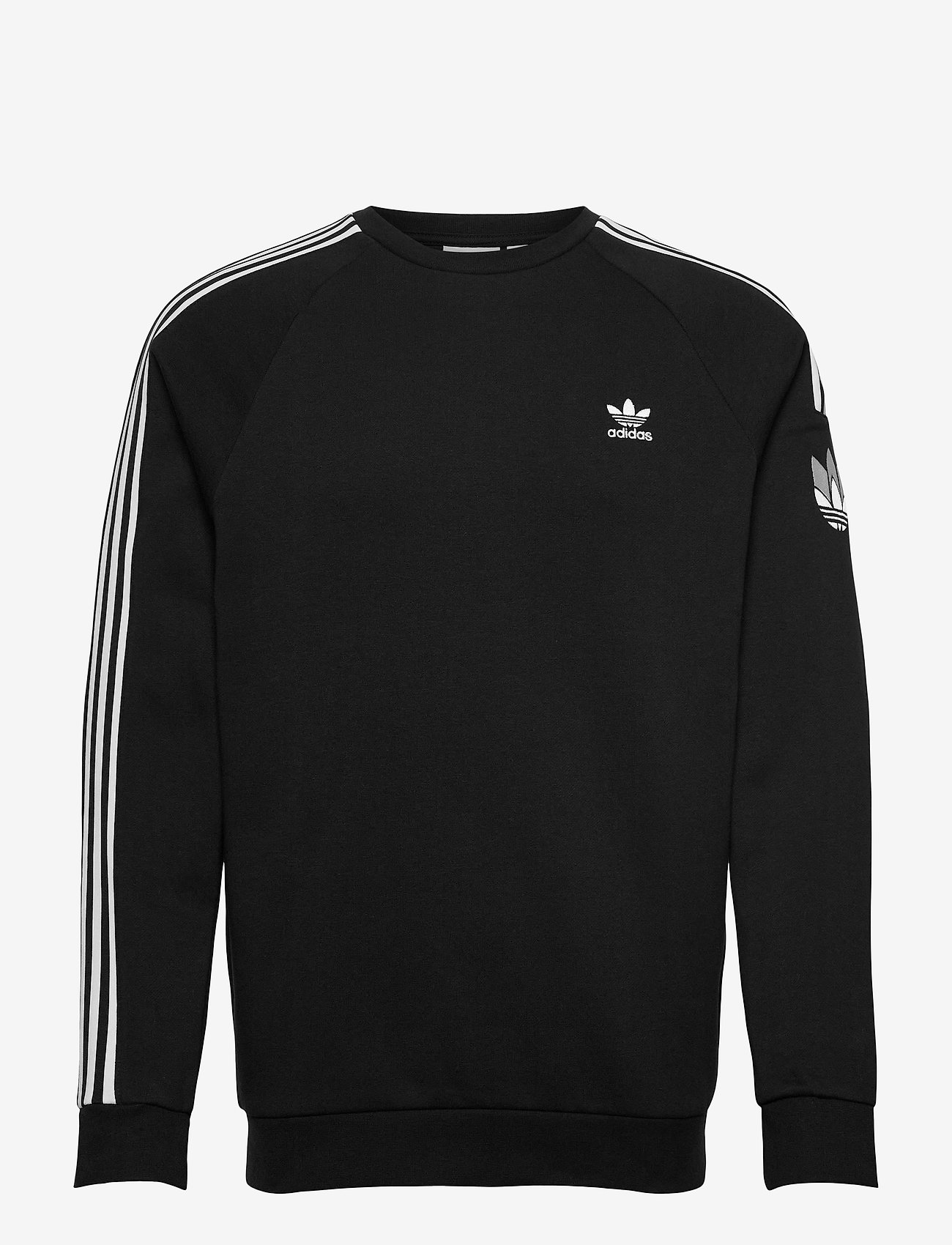 adidas Originals - Adicolor 3D Trefoil 3-Stripes Crew Sweatshirt - basic sweatshirts - black - 1