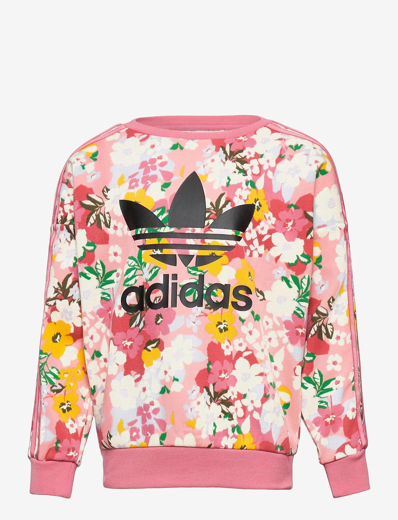 adidas Originals - HER Studio London Floral Crew Sweatshirt - sweatshirts - trapnk/multco/black - 0