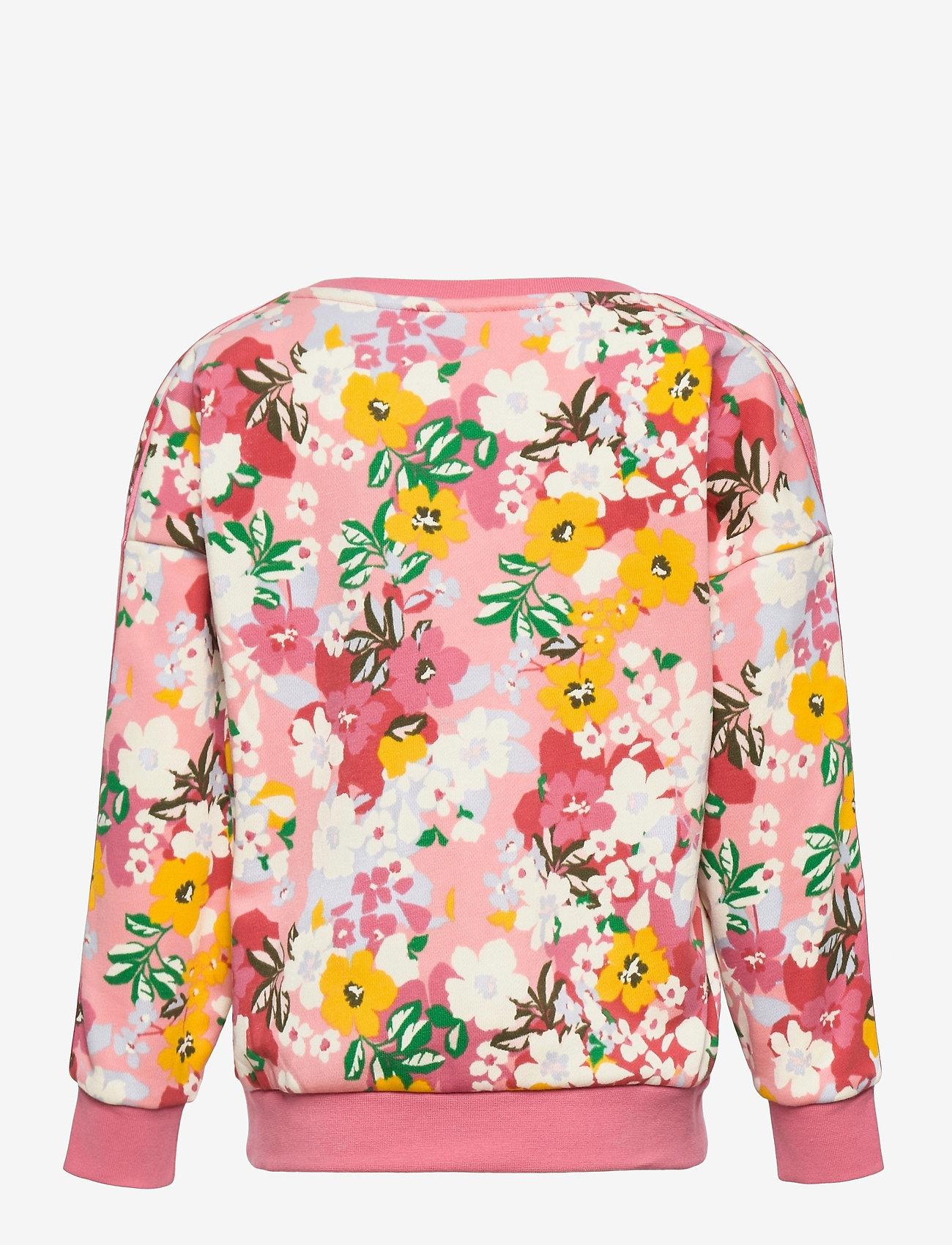 adidas Originals - HER Studio London Floral Crew Sweatshirt - sweatshirts - trapnk/multco/black - 1