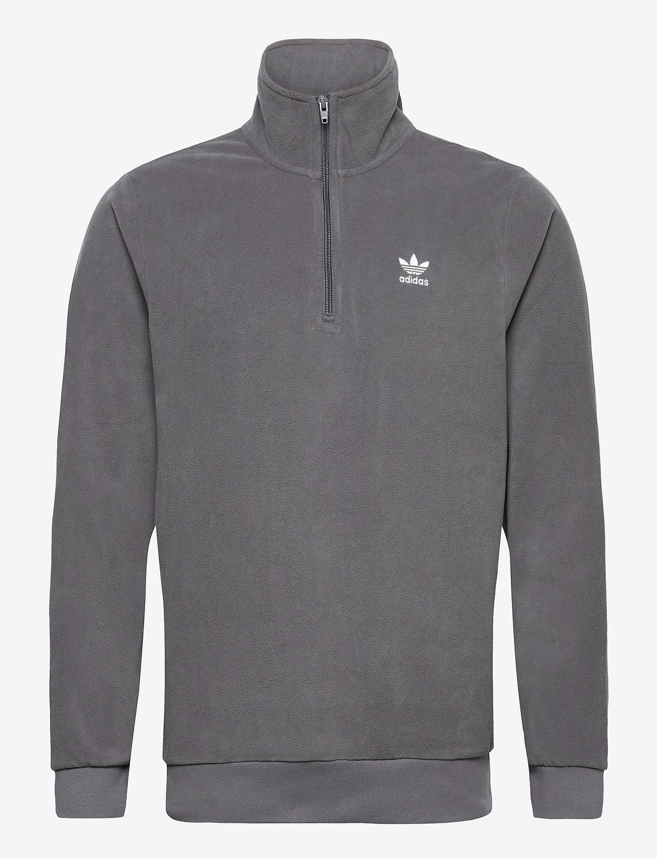 adidas Originals - Adicolor Essentials Polar Fleece Half-Zip Sweatshirt - basic sweatshirts - grefiv - 1