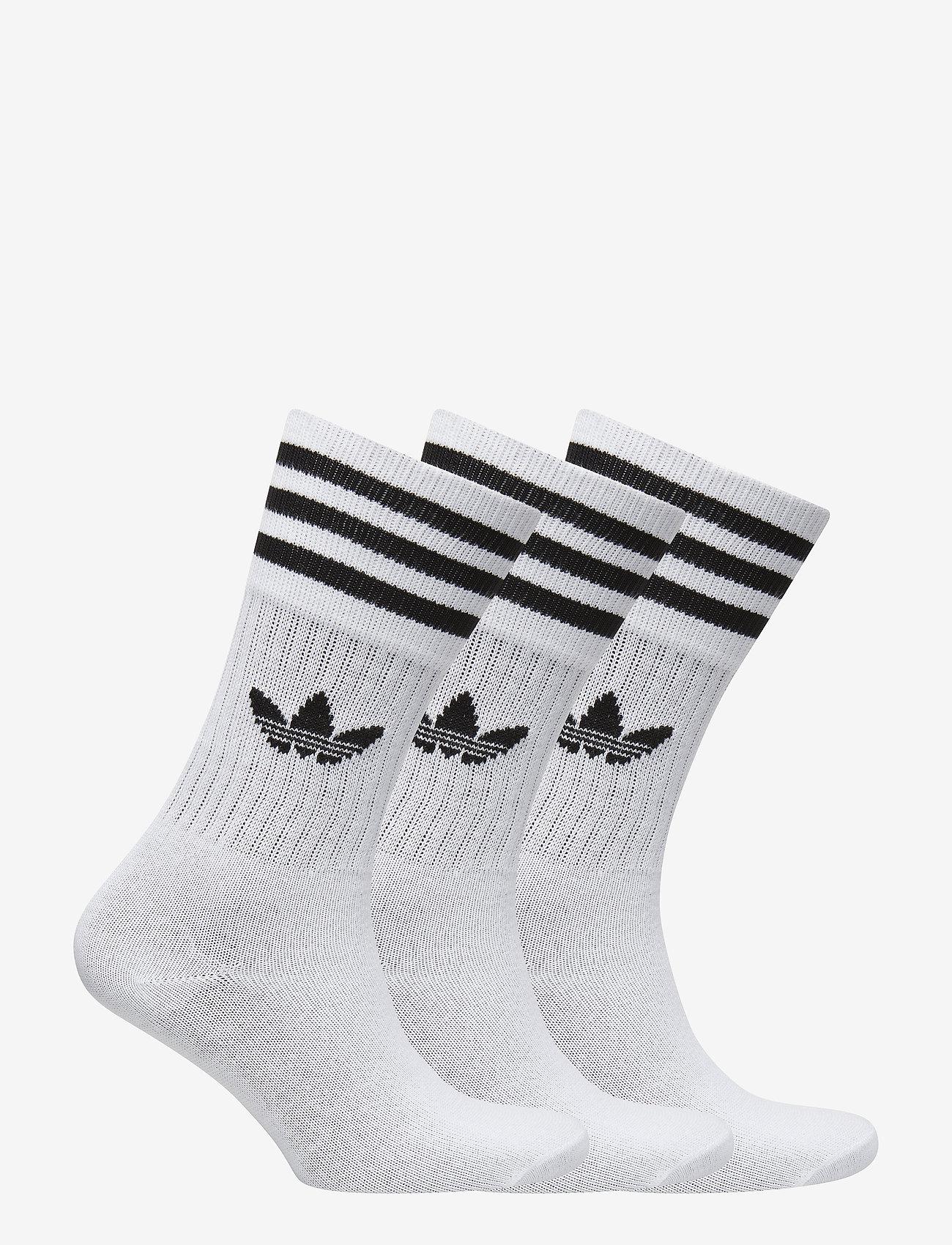 Solid Crew Sock (White/black) - adidas Originals FzVigy