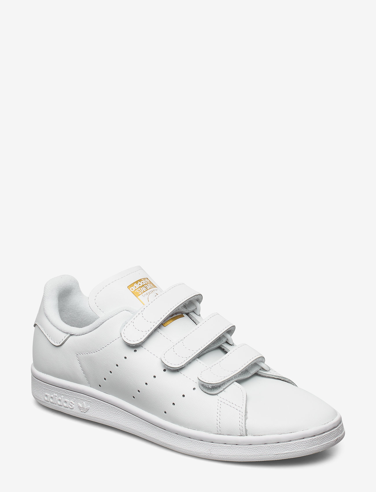 adidas Originals - STAN SMITH CF - lav ankel - ftwwht/ftwwht/goldmt - 0