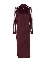 TREFOIL DRESS - MAROON