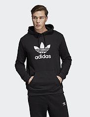 adidas Originals - TREFOIL HOODIE - pulls a capuche - black - 0