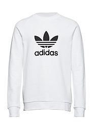 Trefoil Warm-Up Crew Sweatshirt - WHITE