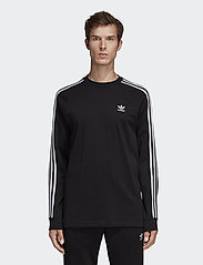 adidas Originals - 3-STRIPES LS T - langarmshirts - black - 0