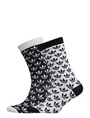 THIN CR SOCK GR - BLACK/WHITE