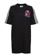 TREFOIL DRESS - BLACK