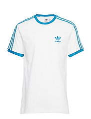 3-STRIPES TEE - WHITE/SHOCYA