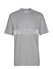 Outline Trf Tee T-shirts Short-sleeved Grå ADIDAS ORIGINALS