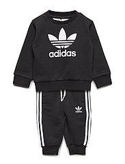 Crew Sweatshirt Set - BLACK/WHITE