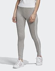 adidas Originals - 3 STRIPES TIGHT - running & training tights - mgreyh/white - 0
