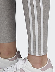 adidas Originals - 3 STRIPES TIGHT - running & training tights - mgreyh/white - 6