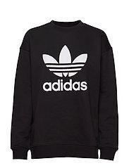 Trefoil Crew Sweatshirt W - BLACK/WHITE