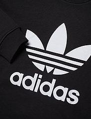 adidas Originals - Trefoil Crew Sweatshirt W - sweatshirts - black/white - 4