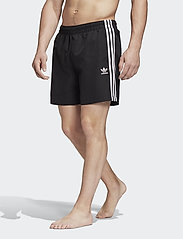 adidas Originals - 3 STRIPE SWIMS - badehosen - black - 0