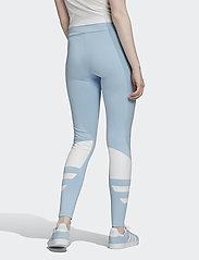 adidas Originals - LRG LOGO TIGHT - running & training tights - clesky/white - 3