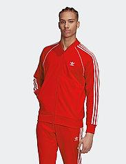 adidas Originals - Adicolor Classics Primeblue SST Track Jacket - basic sweatshirts - scarle/white - 0