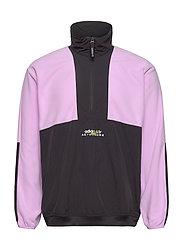 Adventure Polar Fleece Colorblock Half-Zip Jacket - CLELIL/BLACK