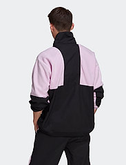 adidas Originals - Adventure Polar Fleece Colorblock Half-Zip Jacket - basic-sweatshirts - clelil/black - 3